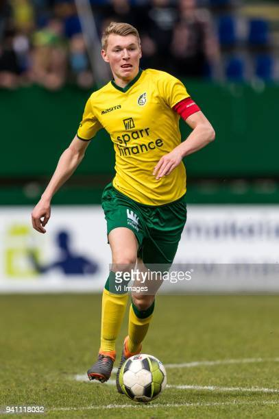 Perr Schuurs of Fortuna Sittard during the Jupiler League match between Fortuna Sittard and Helmond Sport at the Fortuna Sittard Stadium on April 02...