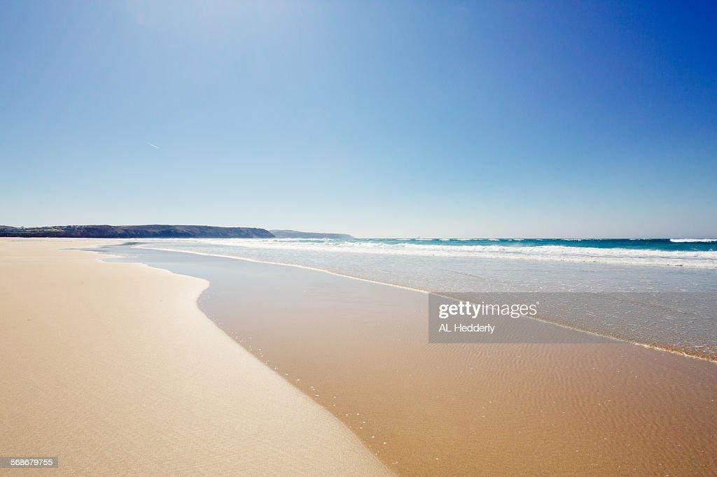 Perranporth and Perran beach, Cornwall : Stock Photo