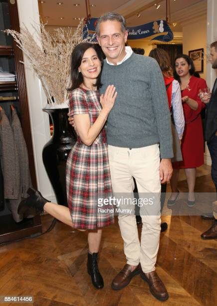 Perrey Reeves and Arthur Wayne attend the Brooks Brothers holiday celebration with St Jude Children's Research Hospital at Brooks Brothers Rodeo on...