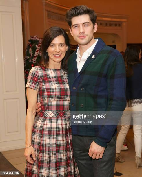 Perrey Reeves and Carter Jenkins attend the Brooks Brothers holiday celebration with St Jude Children's Research Hospital at Brooks Brothers Rodeo on...