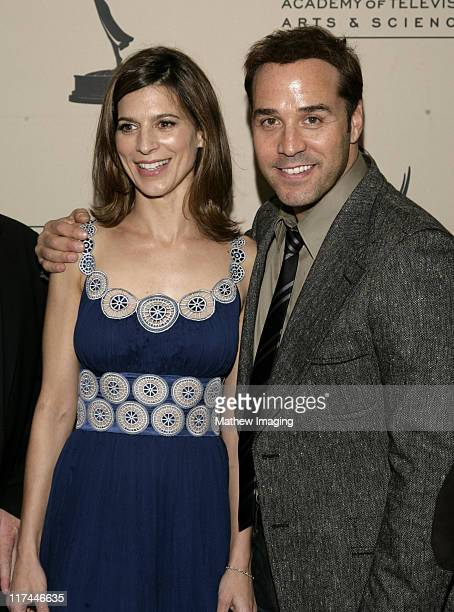 Perrey Reeves and Jeremy Piven during The Academy of Television Arts Sciences Presents An Evening with 'Entourage' Arrivals at Leonard H Goldenson...
