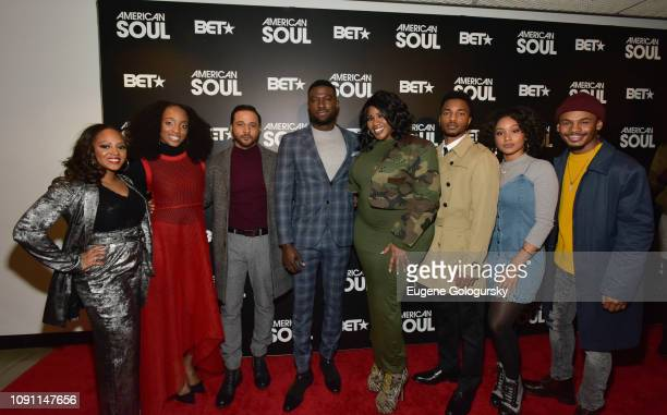 Perri Camper Iantha Richardson Jason Dirden Sinqua Walls Kelly Price Christopher Jefferson Katlyn Nichol and Jelani Winston attend the BET American...
