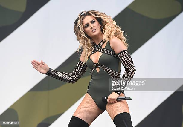 Perri Edwards of 'Little Mix' performs during the V Festival at Hylands Park on August 20 2016 in Chelmsford England