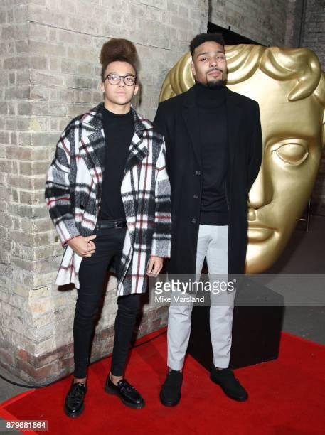 Perri Kiely and Jordan Banjo attend the BAFTA Children's awards at The Roundhouse on November 26 2017 in London England