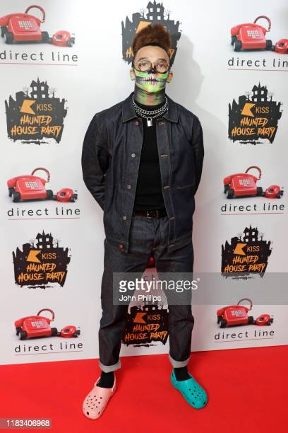 Perri Kiely attends the KISS Haunted House Party 2019 at The SSE Arena Wembley on October 25 2019 in London England