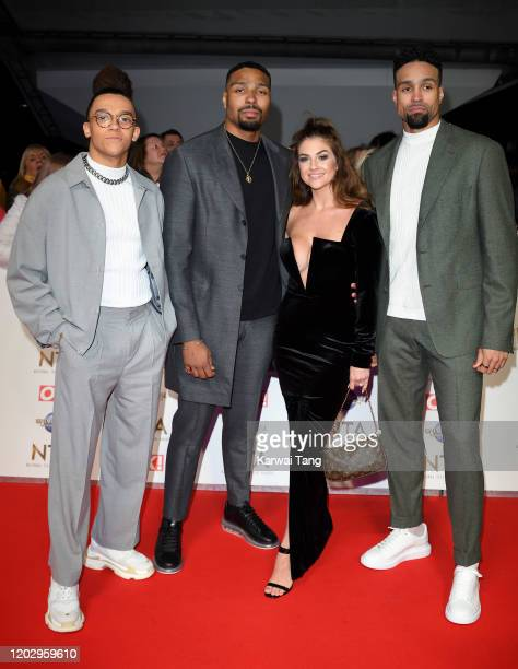 Perri Kiely Jordan Banjo Naomi Courts and Ashley Banjo attend the National Television Awards 2020 at The O2 Arena on January 28 2020 in London England