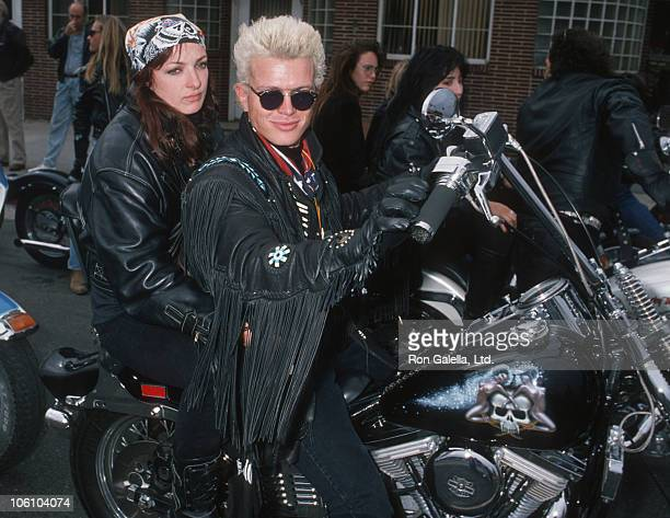 Perri Lister and Billy Idol during Love Ride 5 Benefit for Muscular Dystrophy Association November 13 1988 at Harley Davidson of Glendale in Glendale...