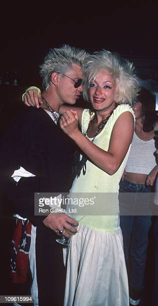 Perri Lister and Billy Idol during Surprise Birthday Party for Billy Idol in New York City July 7 1984 at The Cat Club in New York City New York...