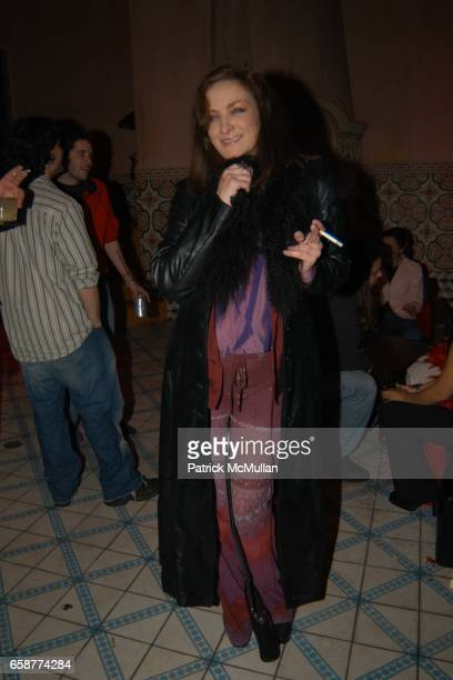 Perri Lister attends the Patrick McMullan and Kenny Scharf Party at Spider Club on February 26 2004 in Hollywood California