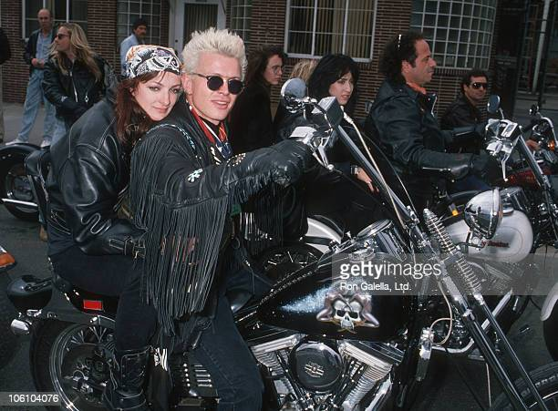 Perri ListerBilly Idol during Love Ride 5 Benefit for Muscular Dystrophy Association November 13 1988 at Harley Davidson of Glendale in Glendale...