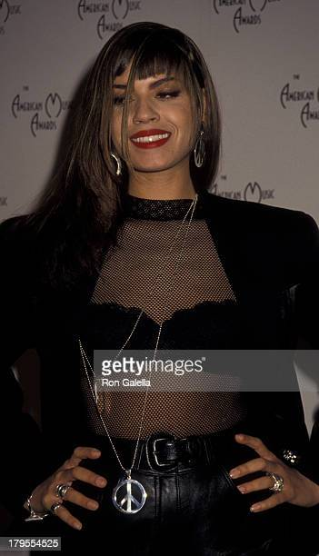 Perri Pebbles Reid attends 18th Annual American Music Awards on January 28 1991 at the Shrine Auditorium in Los Angeles California