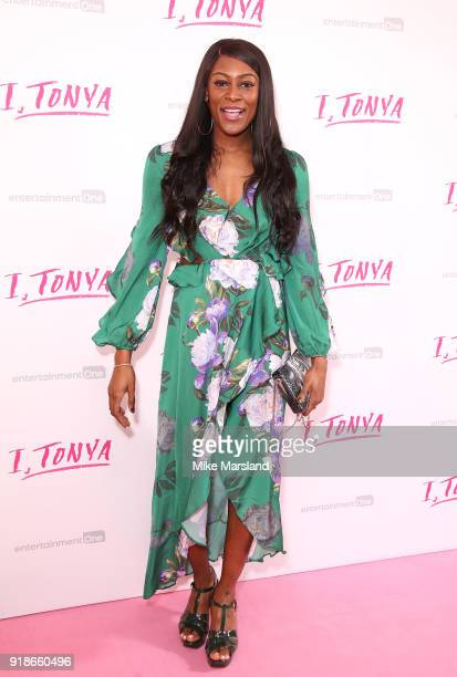 Perri Shakes attends the 'I Tonya' UK premiere held at The Curzon Mayfair on February 15 2018 in London England