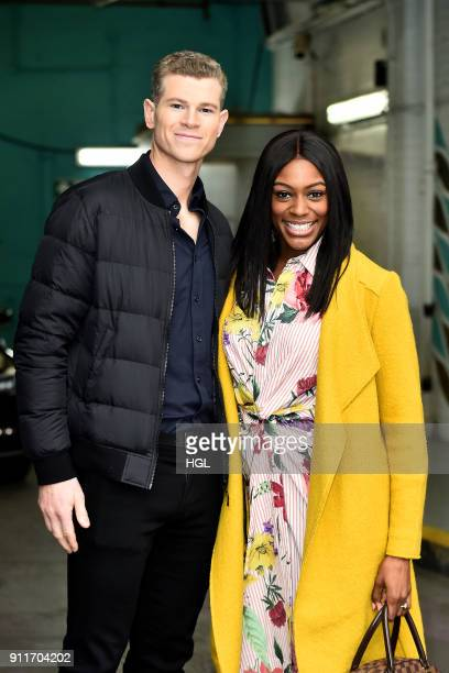 Perri Shakes Drayton Hamish Gaman seen at the ITV Studios on January 29 2018 in London England