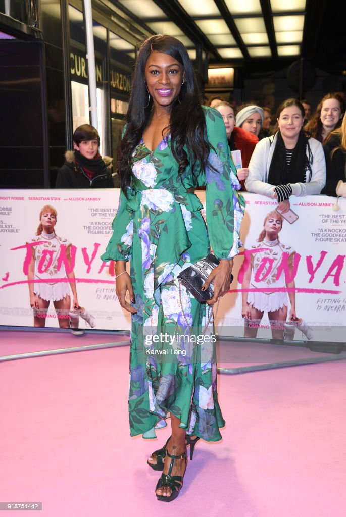 Perri Shakes-Drayton attends the 'I, Tonya' UK premiere held at The Curzon Mayfair on February 15, 2018 in London, England.