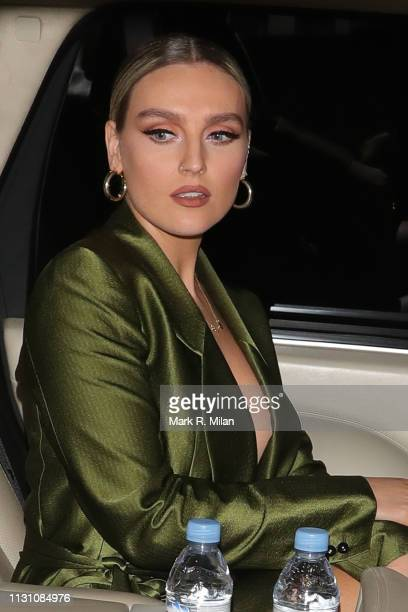 Perrie Edwards attending the Sony BRITS 2019 After Party at Aquashard on February 20 2019 in London England