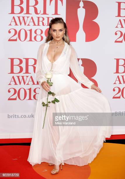 AWARDS 2018 *** Perrie Edwards attends The BRIT Awards 2018 held at The O2 Arena on February 21 2018 in London England
