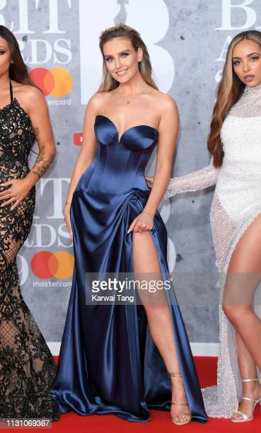 Perrie Edwards attends The BRIT Awards 2019 held at The O2 Arena on February 20, 2019 in London, England.