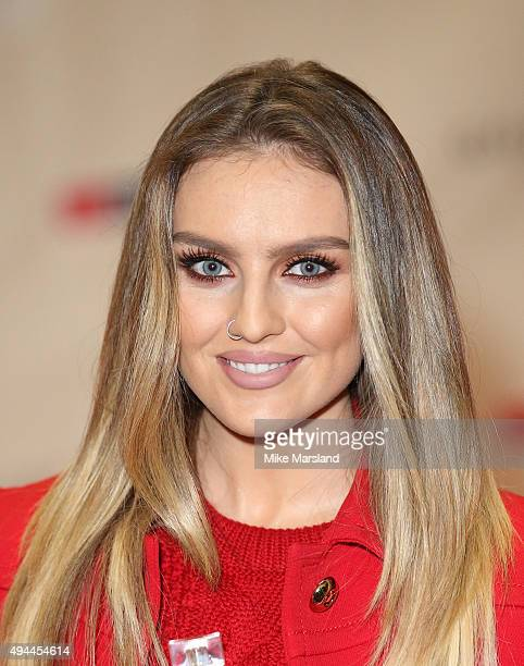 Perrie Edwards from Little Mix attends signing for their new fragrance 'Gold Magic' at Bluewater Shopping Centre on October 27 2015 in Greenhithe...
