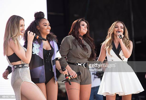 Perrie Edwards Jesy Nelson LeighAnne Pinnock and Jade Thirlwall of Little Mix perform during the 2015 Billboard Hot 100 Music Festival at Nikon at...