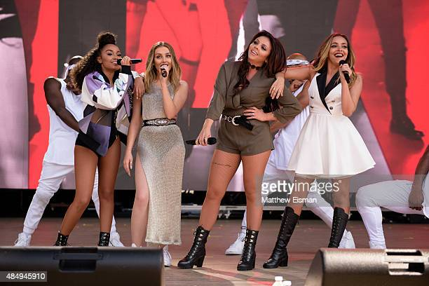 Perrie Edwards Jesy Nelson LeighAnne Pinnock and Jade Thirlwall of Little Mix perform live during the 2015 Billboard Hot 100 Music Festival at Nikon...