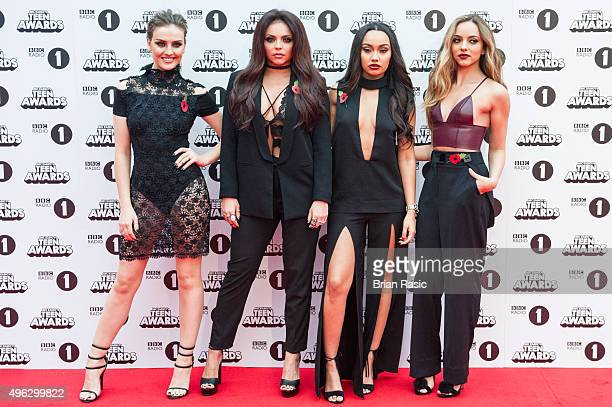 Perrie Edwards Jesy Nelson LeighAnne Pinnock and Jade Thirwal of Little Mix attend BBC Radio 1's Teen Awards at SSE Arena Wembley on November 8 2015...