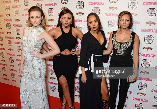 Perrie Edwards Jesy Nelson LeighAnne Pinnock and Jade Thirwell of Little Mix attend the Cosmopolitan Ultimate Women of the Year Awards at One Mayfair...