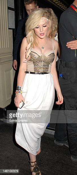 Perrie Edwards leaving Movida Club on June 9 2012 in London England