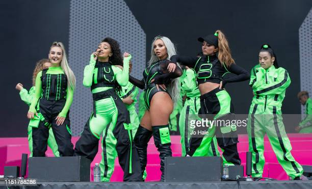 Perrie Edwards Leigh Anne Pinnock Jesy Nelson and Jade Thirlwall of Little Mix perform at the Radio 1 Big Weekend at Stewart Park on May 26 2019 in...