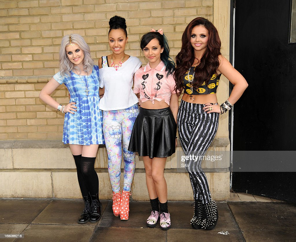 Perrie Edwards, Leigh-Anne Pinnock, Jade Thirlwall, and Jesy Nelson of Little Mix pictured at Whiteleys shopping centre on May 5, 2013 in London, England.