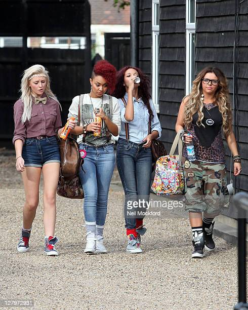 Perrie Edwards, Leigh-Anne Pinnock, Jade Thirwall and Jesy Nelson from X Factor group 'Rhythmix' seen at a Dance Studio on October 4, 2011 in London,...
