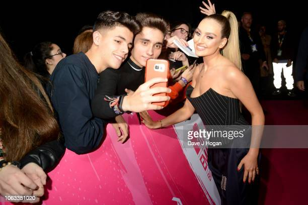 Perrie Edwards of Little Mix attends the MTV EMAs 2018 at the Bilbao Exhibition Centre on November 04 2018 in Bilbao Spain