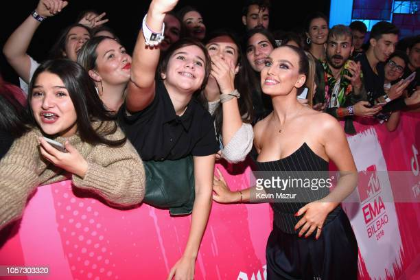 Perrie Edwards of Little Mix attends the MTV EMAs 2018 on November 4 2018 in Bilbao Spain