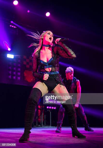 Perrie Edwards of Little Mix performs at Qudos Bank Arena on May 13, 2016 in Sydney, Australia.