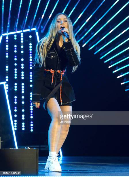 Perrie Edwards of Little Mix performs attends at BBC Radio 1 Teen Awards Show on October 21 2018 in London United Kingdom