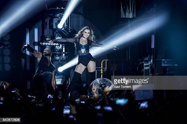 Perrie Edwards of Little Mix performs in concert at Sala Razzmatazz on June 24 2016 in Barcelona Spain