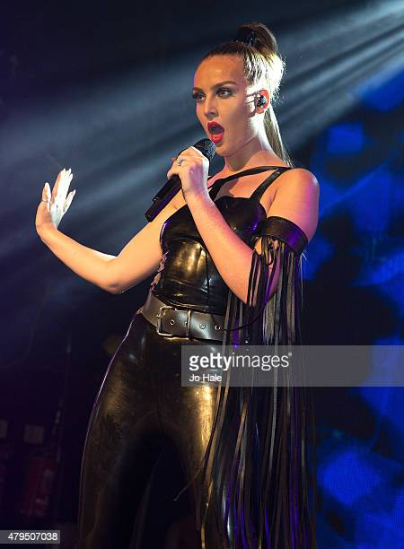 Perrie Edwards of Little Mix performs on stage at GAY Heaven on July 4 2015 in London England
