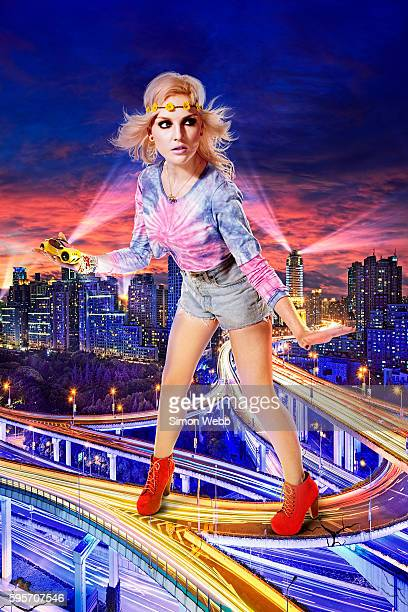 Perrie Edwards of pop band Little Mix is photographed for We Love Pop magazine on June 26 2012 in London England