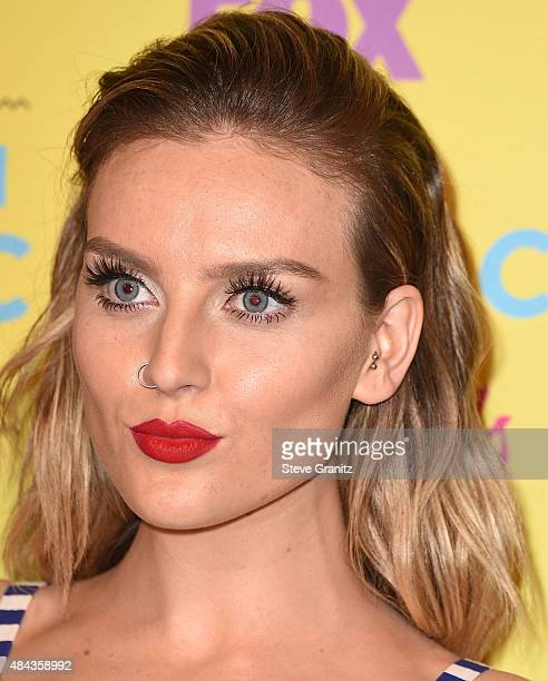 Perrie Edwards poses in the press room at the Teen Choice Awards 2015 at Galen Center on August 16 2015 in Los Angeles California