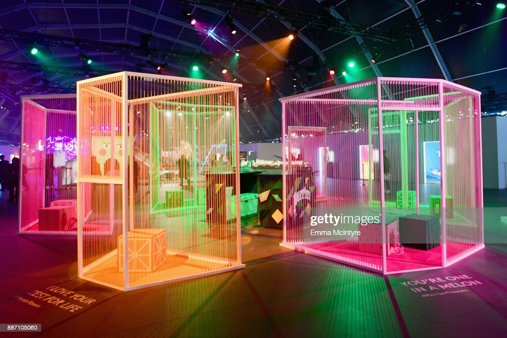 Perrier and HOTTEA's Flavor Chambers on display at Refinery29's '29Rooms Los Angeles: Turn It Into Art' on December 6, 2017 in Los Angeles, California.