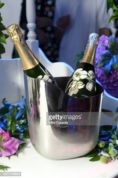 Perrier Jouet on display at the Alber Elbaz X LeSportsac New York Fashion Week Party at Gallery I at Spring Studios on September 5 2018 in New York...