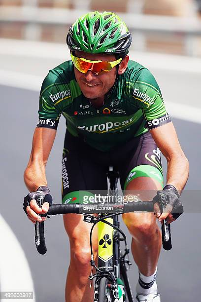 Perrig Quemeneur of France and Europcar in action during the eleventh stage of the 2014 Giro d'Italia a 249km medium mountain stage between...