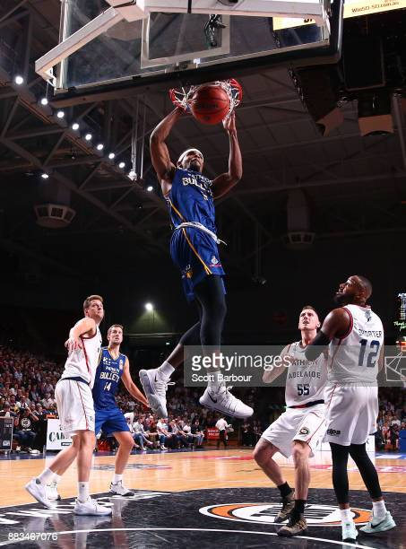 Perrin Buford of the Bullets dunks the ball during the round eight NBL match between the Adelaide 36ers and the Brisbane Bullets at Titanium Security...