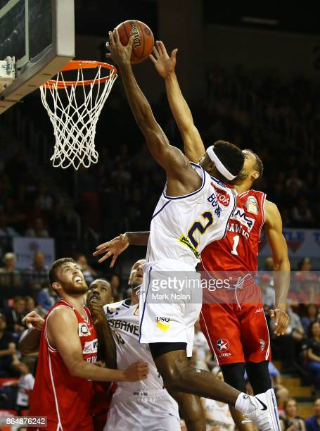 Perrin Buford of the Bullets in action during the round three NBL match between the Illawarra Hawks and the Brisbane Bullets at Wollongong...