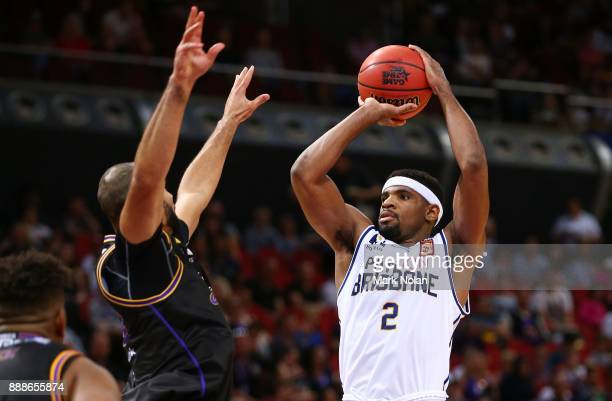 Perrin Buford of the Bullets shoots for the basket during the round nine NBL match between the Sydney Kings and the Brisbane Bullets at Qudos Bank...