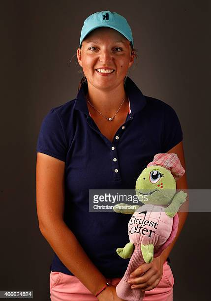 Perrine Delacour of France poses for a portrait ahead of the LPGA Founders Cup at Wildfire Golf Club on March 17 2015 in Phoenix Arizona
