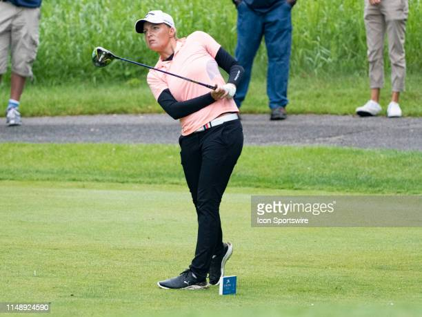 Perrine Delacour of Paris France finishes 9 under par during the final round of the 2019 Symetra Tour Four Winds Invitational on June 9 2019 at the...
