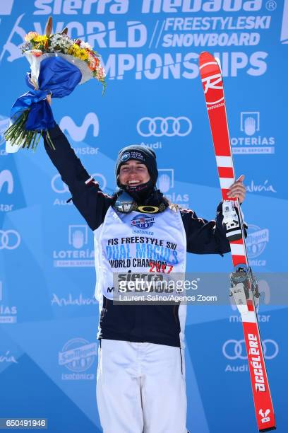 Perrine Laffont of France wins the gold medal during the FIS Freestyle Ski & Snowboard World Championships Dual Moguls on March 09, 2017 in Sierra...