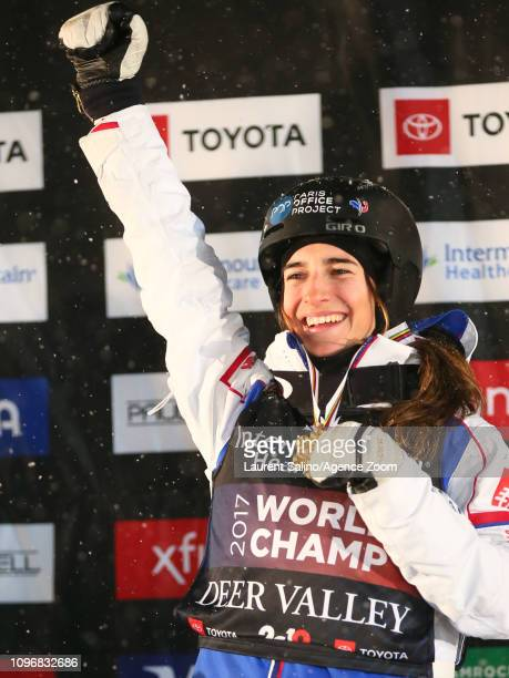Perrine Laffont of France wins the gold medal during the FIS World Freestyle Ski Championships Men's and Women's Dual Moguls on February 9 2019 in...