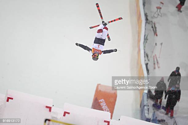 Perrine Laffont of France wins the gold medal during the Freestyle Skiing Women's Moguls Finals at Pheonix Snow Park on February 11 2018 in...