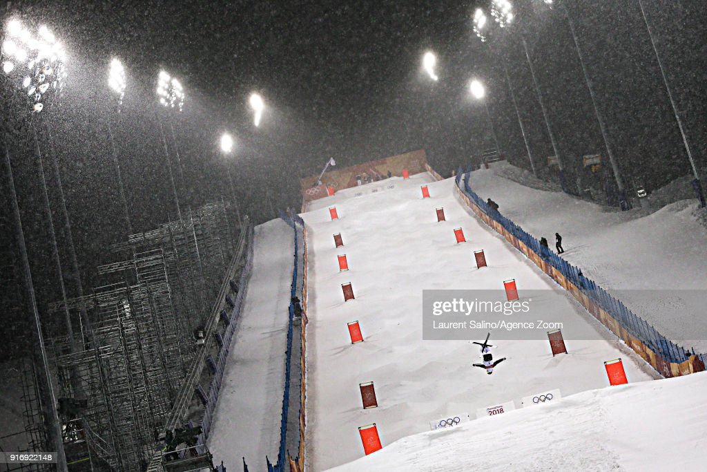 Perrine Laffont of France wins the gold medal during the Freestyle Skiing Women's Moguls Finals at Pheonix Snow Park on February 11, 2018 in Pyeongchang-gun, South Korea.